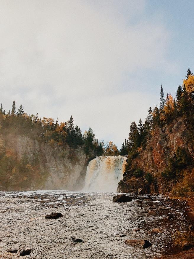 Waterfall North Shore Minnesota Adventure Fall Colors Rocks Leaves Autumn