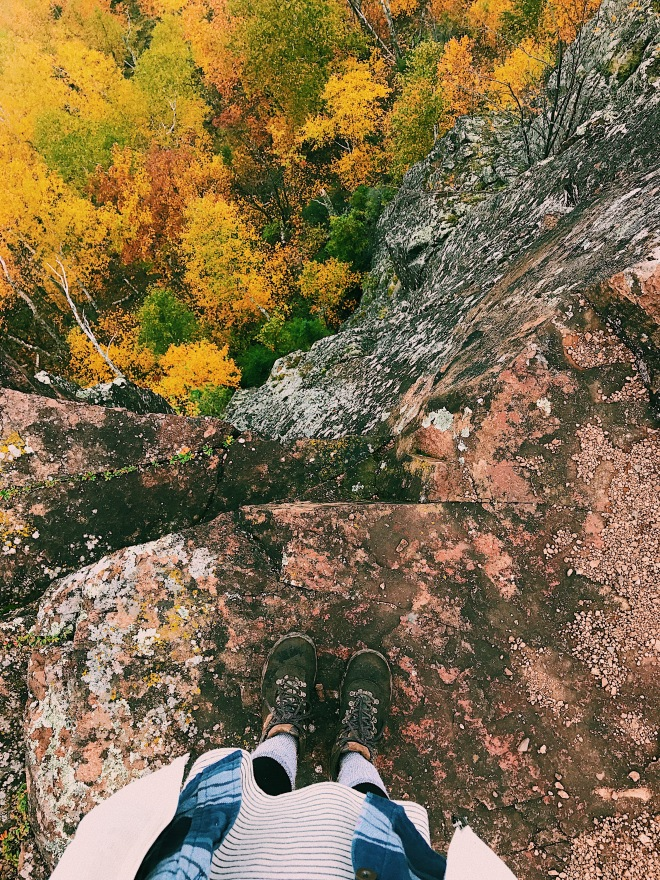 Hiking Cliffs Bean Lake Adventure North Shore Minnesota