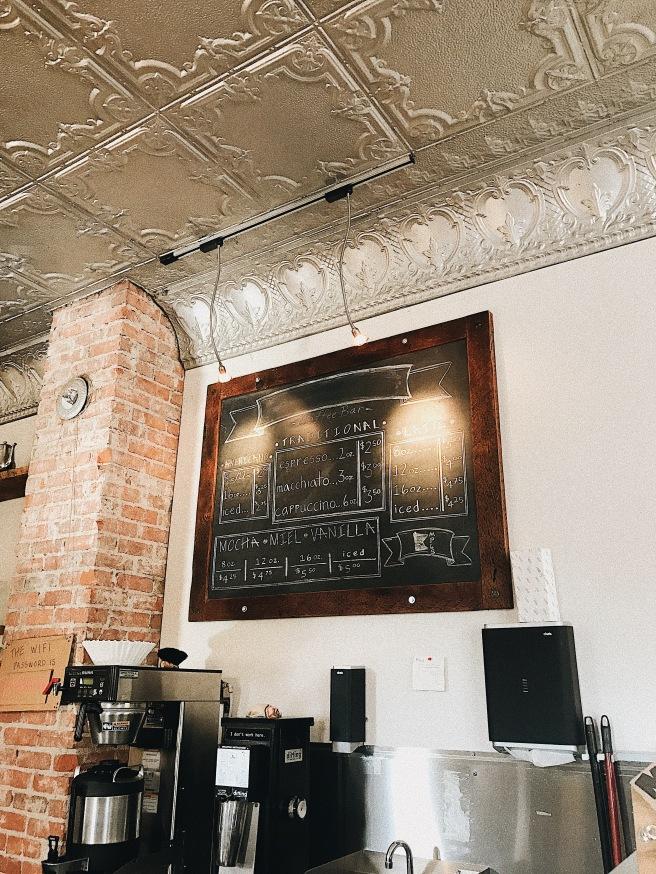 Coffee Shop Menu Sign Interior Cute