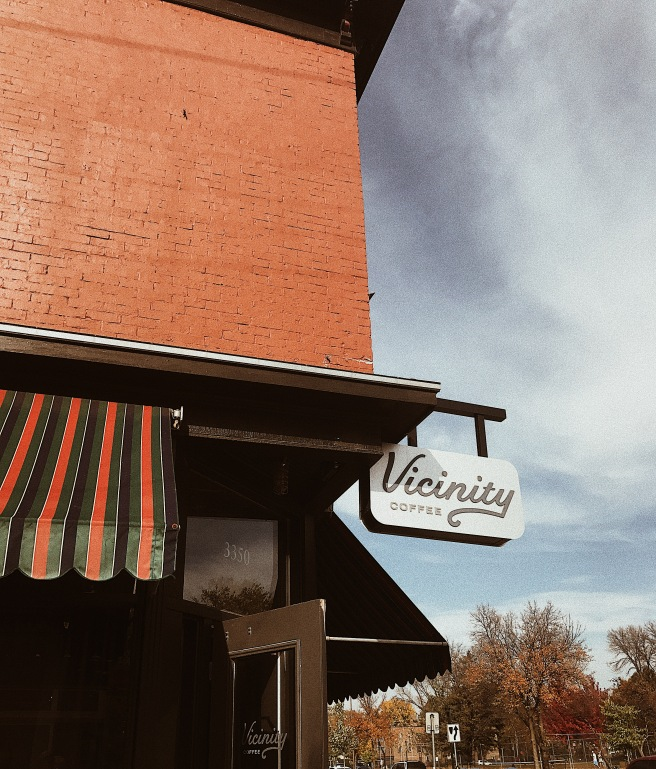 Vicinity Coffee Exterior Sign Trendy Coffee Shop