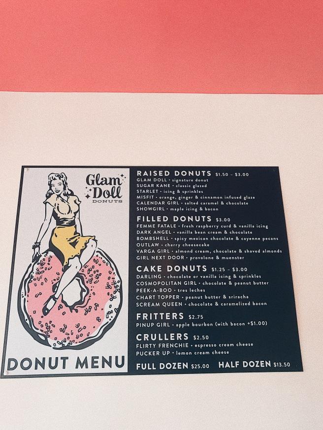 Donut Shop Menu Glam Doll Donuts Minneapolis Minnesota
